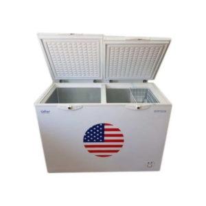 Celfrost Two Lid Hard Top Half Freezer Half Cooler ( PPGI Inside ) CFCC 335 Ltrs